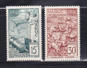 French Morocco 291-292 Set MH Various