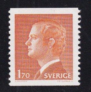 Sweden   #1075   MNH  1978  King Carl XVI   perf. vert.  1.70k