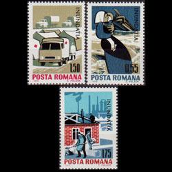 ROMANIA 1970 - Scott# 2206-8 Danube Flood Set of 3 NH