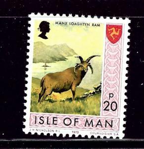 Isle of Man 25 MNH 1973 Ram