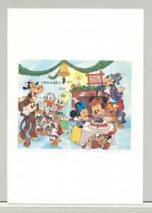 Anguilla #605 Disney Christmas 1v S/S Imperf Proof on Card