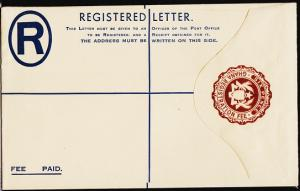 Ghana. Registered Envelope(6d) Unused