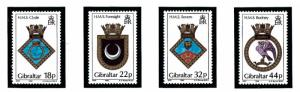 Gibraltar 528-31 MNH 1988 Royal Navy Ship Crests