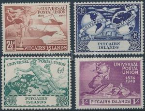 Pitcairn Islands stamp 75th anniversary of UPU set MNH 1949 Mi 15-18 WS201977