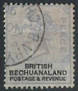 70321 - British BECHUANALAND - STAMP: Stanley Gibbons # 14 lot of 6 Used stamps