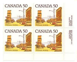 Canada USC #723 Mint 1978 50c Street Scene Plate 1 MS VF-NH Cat. $30.