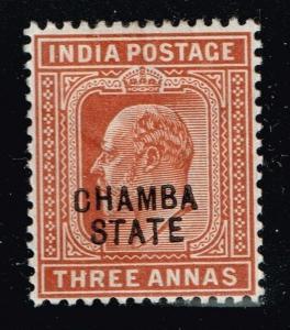 Chamba SG# 34, Mint Hinged, Hinge Remnant    Lot 083114