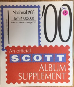 Scott National #68 Item #100S000 Album Supplement (through 2000)