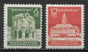 Germany East Saxony 15NB1-2 Dresden set MNH