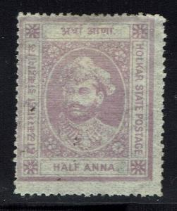 Indore SG# 2, Mint Hinged, Hinge Remnant, small ink dots on front -  Lot 031416