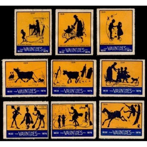 Valentines Varnishes 1914 Advertising Poster Stamps