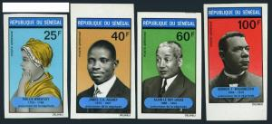 Senegal C95-C98 imperf,MNH.Michel 452B-455B. Prominent Blacks,1971.
