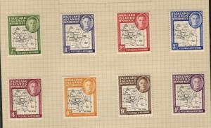 1948 Falkland Islands SC #1L1-8 DEPENDENCIES KGVI MH Stamp set