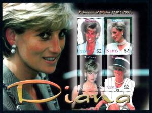 [95343] Nevis 2003 Royalty Princess Diana Sheet MNH