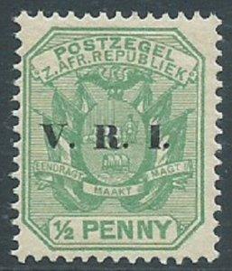 Transvaal, Sc #202, 1/2d MNH