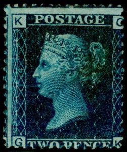 SG47, 2d dp blue plate 14, M MINT. Cat £500. GK