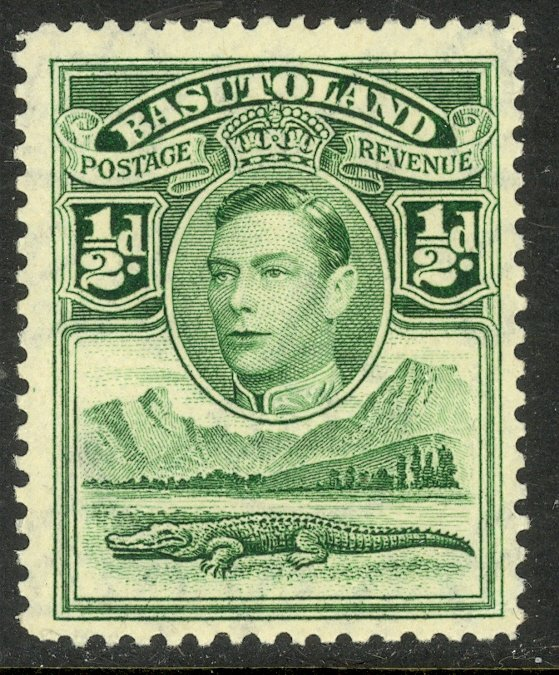 BASUTOLAND KGVI 1938 1/2d Emerald CROCODILE Pictorial Sc 18 MLH