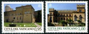 HERRICKSTAMP NEW ISSUES VATICAN CITY Sc.# 1655-56 EUROPA 2017 Castles