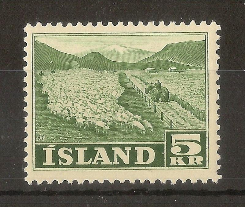 Iceland 1950 5kr Sheep SG307 MNH Cat£44