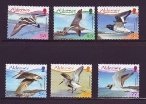 Alderney Sc 344-9 2009 Birds stamp set mint NH