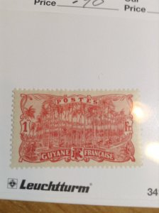 French Guiana  #  78  MH