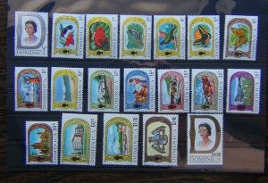 Dominica 1969 - 1972 set to $4.80 MNH SG272 - SG290
