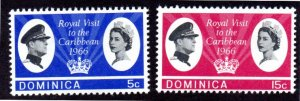 DOMINICA 193-194 MNH SCV $3.00 BIN $1.50 ROYALTY