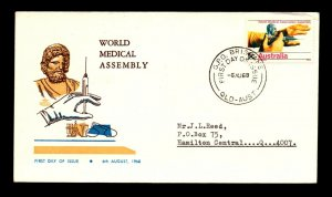 Australia 1968 World Medical Assembly FDC (I) - L14413