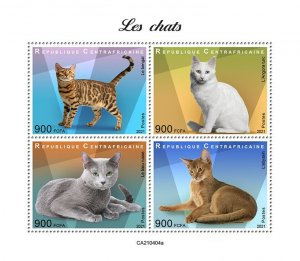 C A R - 2021 - Cats - Perf 4v Sheet - Mint Never Hinged