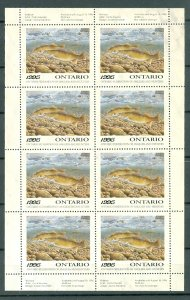 ONTARIS  1995 WALLEYE CONSERVATION  #OW3f  SHEET of 8 MNH...$150.00