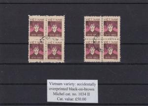 VIETNAM VARIETY  OVERPRINT ERRORS  STAMPS BLOCKS CAT £50 REF 1111