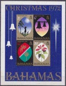 1972 Bahamas 344-347/B6 Christmas