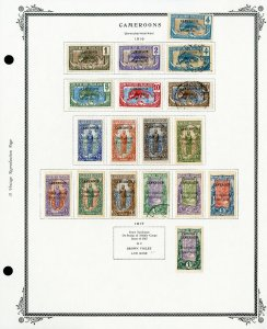 Cameroon Clean 1916 to 1939 Mint & Used Stamp Collection