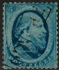 Netherlands1864 #4 King William III Used F-VF... Regal Stamp!