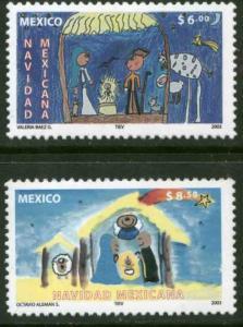 MEXICO 2340-2341, CHRISTMAS HOLIDAYS, 2003. MINT, NH. VF.