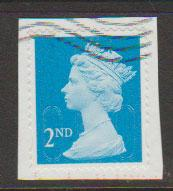 GB QE II Machin SG U2963 - 2nd brt blue -  M14L - Source  T