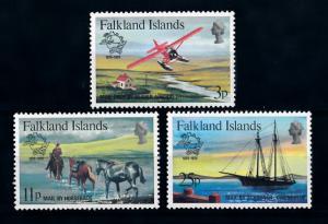 [71917] Falkland Islands 1979 Mail Delivery Aircraft Horse Ship UPU  MNH