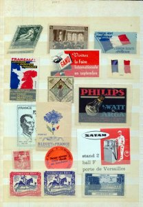France Old/Modern MH MNH Poster Labels (Appx 70) (NT 3420