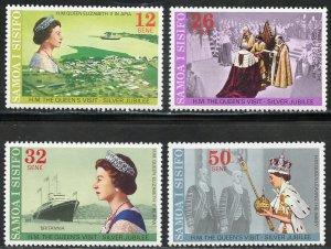 Samoa Scott 446-49 MVFNHOG - 25th Annv. of Reign of Elizabeth II - SCV $1.55