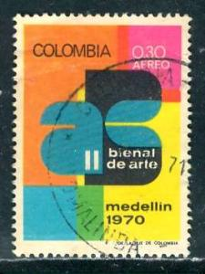 Colombia; 1970: Sc. # C529: O/Used Cpl. Set