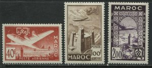 French Morocco 1952 Airmails 40f to 200f mint o.g. hinged