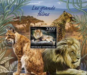 C A R - 2019 - Big Cats - Perf Souv Sheet - MNH