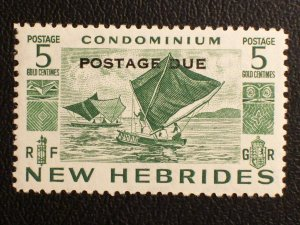New Hebrides (British) Scott #J11 unused