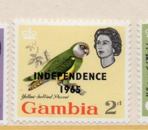 Gambia 1965 Independence Optd Early Issue Fine Mint Hinged 2d. 233083