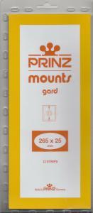 PRINZ 265X25 (12) BLACK MOUNTS RETAIL PRICE $9.50