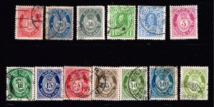 NORWAY STAMP OLD USED STAMP COLLECTION LOT  #M2
