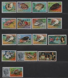 $Aitutaki Sc#O1-O16 M/H, Marine Life-fish, Cv. $74