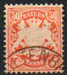 Mi: 42   Used   1875  Cat  €  10.00  bavaria