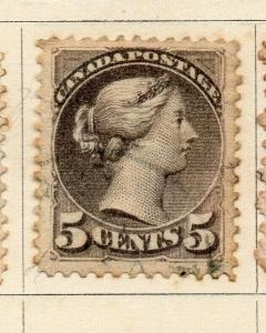 Canada 1870-93 Early Issue Fine Used 5c. 322941