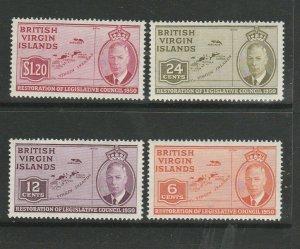 British Virgin Islands 1951 Council UM/MNH SG 132/5
